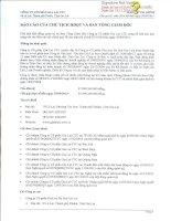 Báo cáo tài chính công ty mẹ quý 3 năm 2014 - Công ty cổ phần Gia Lai CTC