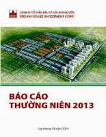 Báo cáo thường niên năm 2013 - Công ty cổ phần Đầu tư Căn nhà Mơ ước