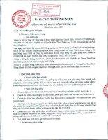 Báo cáo thường niên năm 2011 - Công ty Cổ phần Nông dược H.A.I