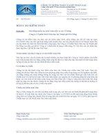 Báo cáo tài chính năm 2009 (đã kiểm toán) - Công ty Cổ phần Sách Giáo dục tại Tp. Đà Nẵng