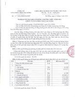 Nghị quyết Đại hội cổ đông thường niên - Công ty Cổ phần Lương thực Đà Nẵng