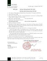 Báo cáo tài chính công ty mẹ quý 4 năm 2014 - Tổng Công ty Cổ phần Đầu tư Xây dựng và Thương mại Việt Nam