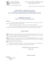 Nghị quyết Hội đồng Quản trị - Công ty Cổ phần Chế tạo Bơm Hải Dương