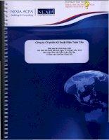 Báo cáo tài chính hợp nhất năm 2013 (đã kiểm toán) - Công ty cổ phần Kỹ thuật điện Toàn Cầu