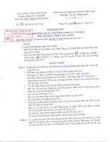 Nghị quyết Hội đồng Quản trị ngày 28-2-2011 - Tổng Công ty Cổ phần Đầu tư Phát triển Xây dựng