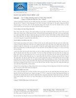 Báo cáo tài chính năm 2015 (đã kiểm toán) - Công ty Cổ phần Bê tông Hoà Cầm - Intimex