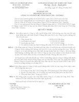 Nghị quyết Hội đồng Quản trị - Công ty Cổ phần Bê tông Hoà Cầm - Intimex