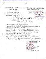 Nghị quyết Hội đồng Quản trị - CTCP Suất ăn công nghiệp Atesco