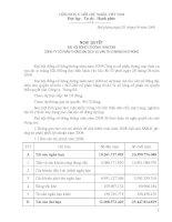Nghị quyết đại hội cổ đông ngày 28-04-2009 - Công ty Cổ phần Thương mại Dịch vụ Vận tải Xi măng Hải Phòng