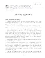 Báo cáo thường niên năm 2008 - Công ty Cổ phần Chế tạo Bơm Hải Dương