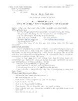 Báo cáo thường niên năm 2008 - Công ty Cổ phần Thương mại Dịch vụ Vận tải Xi măng Hải Phòng
