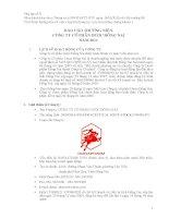 Báo cáo thường niên năm 2011 - Công ty Cổ phần Dược Đồng Nai