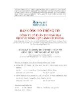 Bản cáo bạch - Công ty cổ phần Thương mại Dịch vụ Tổng hợp Cảng Hải Phòng