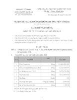 Nghị quyết Đại hội cổ đông thường niên năm 2011 - Công ty Cổ phần Khoáng sản Bắc Kạn