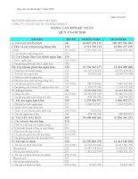 Báo cáo tài chính quý 1 năm 2010 - Công ty Cổ phần Sách Giáo dục tại Tp.Hà Nội