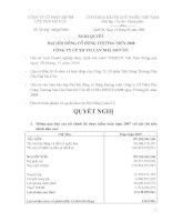 Nghị quyết đại hội cổ đông ngày 25-1-2008-2008 - Công ty cổ phần Đầu tư Căn nhà Mơ ước