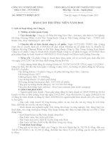 Báo cáo thường niên năm 2011 - Công ty Cổ phần Bê tông Hoà Cầm - Intimex