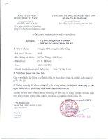 Nghị quyết Hội đồng Quản trị - Công ty Cổ phần Lương thực Đà Nẵng