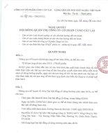 Nghị quyết Hội đồng Quản trị - Công ty cổ phần Cảng Cát Lái