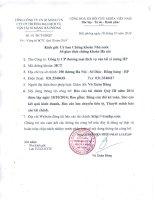 Báo cáo tài chính quý 3 năm 2014 - Công ty Cổ phần Thương mại Dịch vụ Vận tải Xi măng Hải Phòng