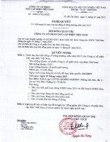 Nghị quyết Hội đồng Quản trị - Công ty cổ phần Dây Cáp Điện Việt Nam
