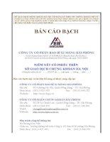 Bản cáo bạch - Công ty cổ phần VICEM Bao bì Hải Phòng