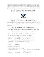 Bản cáo bạch - Công ty Cổ phần Thép Đà Nẵng