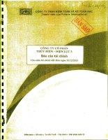 Báo cáo tài chính năm 2011 (đã kiểm toán) - Công ty Cổ phần Thủy điện – Điện lực 3