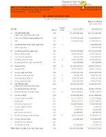 Báo cáo tài chính hợp nhất quý 3 năm 2013 - Công ty cổ phần Xây dựng và Nhân lực Việt Nam