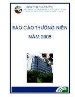 Báo cáo thường niên năm 2008 - Công ty cổ phần Thế kỷ 21