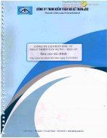 Báo cáo tài chính năm 2014 (đã kiểm toán) - Công ty Cổ phần Đầu tư Phát triển Xây dựng - Hội An