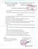 Nghị quyết Hội đồng Quản trị - Công ty cổ phần Chế tạo máy điện Việt Nam - Hungari