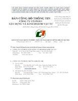 Bản cáo bạch - Công ty Cổ phần Xây dựng và Kinh doanh Vật tư