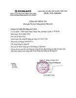 Báo cáo tài chính công ty mẹ quý 3 năm 2013 - Công ty cổ phần Bất động sản E Xim