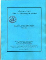 Báo cáo thường niên năm 2013 - Công ty Cổ phần VICEM Vật liệu Xây dựng Đà Nẵng