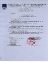 Báo cáo thường niên năm 2015 - Tổng Công ty Khí Việt Nam-CTCP