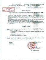Nghị quyết Hội đồng Quản trị ngày 16-9-2011 - Công ty Cổ phần Sản xuất Thương mại May Sài Gòn