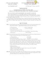 Nghị quyết Đại hội cổ đông thường niên - Công ty Cổ phần Bê tông Hoà Cầm - Intimex