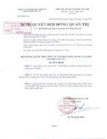 Nghị quyết Hội đồng Quản trị ngày 9-11-2010 - Công ty Cổ phần Xây dựng và Kinh doanh Vật tư