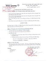 Nghị quyết Hội đồng Quản trị ngày 23-6-2011 - Công ty Cổ phần Bóng đèn Điện Quang