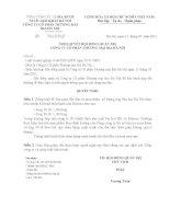 Nghị quyết Hội đồng Quản trị ngày 17-05-2011 - Công ty Cổ phần Thương mại Bia Hà Nội