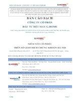 Bản cáo bạch năm 2015 - Công ty cổ phần Đầu tư Dệt may G.Home