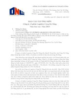 Báo cáo thường niên năm 2014 - Công ty cổ phần Logistic Cảng Đà Nẵng