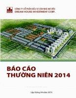 Báo cáo thường niên năm 2014 - Công ty cổ phần Đầu tư Căn nhà Mơ ước