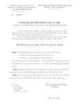Nghị quyết Hội đồng Quản trị ngày 23-11-2009 - Công ty Cổ phần Sách Giáo dục tại Tp.Hà Nội