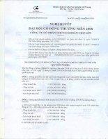 Nghị quyết đại hội cổ đông ngày 23-05-2009 - Công ty Cổ phần Chứng Khoán Chợ Lớn