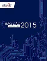 Báo cáo thường niên năm 2015 - Công ty Cổ phần Đầu tư Phát triển Công nghệ Điện tử Viễn thông