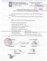 Nghị quyết Hội đồng Quản trị - Công ty Cổ phần Đầu tư và Phát triển Giáo dục Đà Nẵng