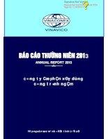 Báo cáo thường niên năm 2013 - Công ty Cổ phần Xây dựng Công trình ngầm