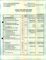 Báo cáo tài chính quý 4 năm 2014 - Công ty Cổ phần Kỹ nghệ Đô Thành